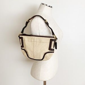 Coach | Vintage Woven Straw Hobo Bag